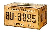 秋月貿易 収納ボックス ナンバープレート W33xD20.5xH18.5cm ツールボックス DFX-15A087