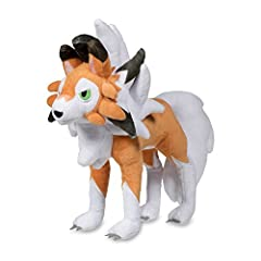 With piercing green embroidered eyes and warm orange fur, the Lycanroc (Dusk Form) Poké Plush has a fierce (yet cuddly) bite! Lycanroc is known as Lugarugan in Japan! Care Instructions: Surface Wash only Item Dimensions: 10.4 x 12.4 x 5.5 inches Poké...