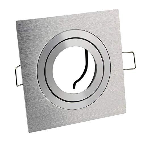 marco de montaje angular de aluminio giratorio - marco angular de bella óptica cepillada - para lámparas LED y halógenas - focos empotrados de alta calidad procesados   1s