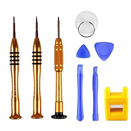 oGoDeal Juego de destornilladores: Phillips PH000 de 1,5 mm, de cinco puntas (pentalobular) P2 de 0,8 mm y de tres puntas Y000 de 0,6 mm para Apple iPhone, kit de herramientas para iPhone
