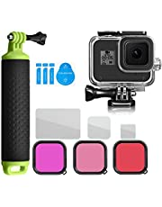 For GoPro hero 8 accessories Diving Kit 45m Waterproof Shell Diving Filter Handheld Diving Float Screen Protection Tempered Film