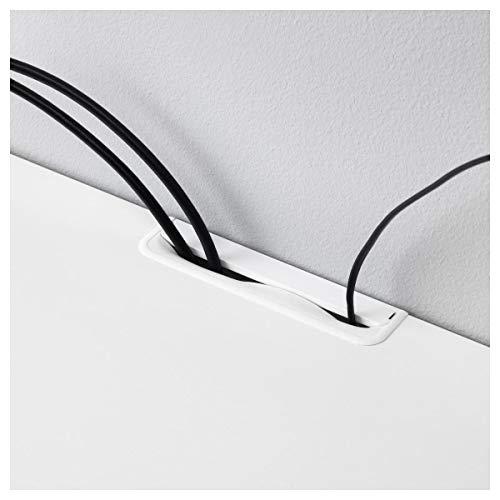 IKEA BESTA - ławka telewizyjna z szufladami biała/selsviken wysoki połysk/biała