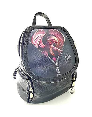 Anne Stokes Fantasy 3D Art Peeping Dragon Casual Rucksack Unisex Canvas Rucksack Bookbag Wanderrucksack