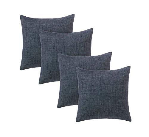 zyh Fundas de Almohada de Tiro de Lino de algodón Funda de Almohada Decorativa Funda de cojín Cuadrada para sofá