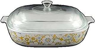Corning Ware Floral Bouquet Skillet w/ Lid ( 10
