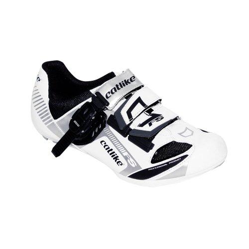 Catlike Felinus Road - Zapatillas de ciclismo unisex, color blanco/negro, talla 42