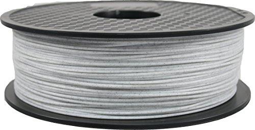 DruckerRhino - Filamento PLA para impresora 3D de 1,75mm, carrete de 1kg para impresoras o plumas electrónicas, en envase al vacío, 1 kg, Mármol, 1
