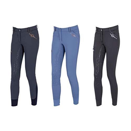 Covalliero Kerbl Damen Winter Reithose Softshell Tilda, Anti-Slip, 3/4 Besatz Klimafunktion (34, Mittelblau)