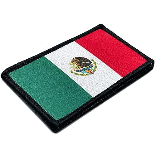 Bandera México 100% Bordado - Parche mochila - Banderas del mundo - Parches Militares - 88 x 52 mm