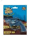 Fancy Ole – Accesorios de Disfraz para Hombre Fake Detektiv Cop Revolver Pistola, Carnaval, y Fastnacht, Azul