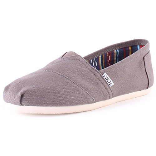 TOMS WOMEN ALPARGATA Ash Canvas UK4.5