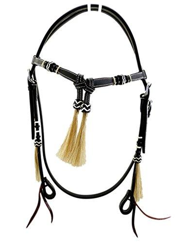 Thor Equine Kopfstück Futurity Hair Westerntrense, Schwarz Pony