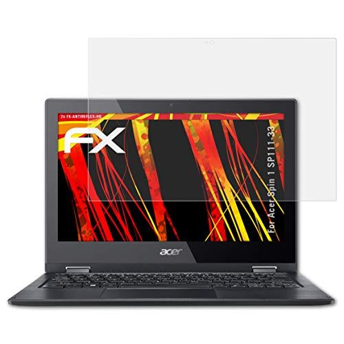 atFolix Schutzfolie kompatibel mit Acer Spin 1 SP111-33 Bildschirmschutzfolie, HD-Entspiegelung FX Folie (2X)