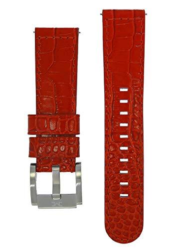 TW Steel Marc Coblen Armband Uhrenband Uhrenarmband Leder 22 MM Kroko Rot LB_R_K_S