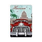 Cartel retro de La Habana, cartel de cartel de pared de hojalata, pared de Metal de hierro, decoración de pared de aluminio, placa, decoración, Cafe Bar, 20x30cm