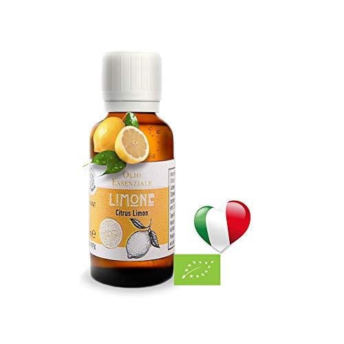 Olio Essenziale Biologico Limone Di Sicilia Uso Alimentare (30 ML) PRODOTTO IN ITALIA,Essenza Naturale, Olii Per...