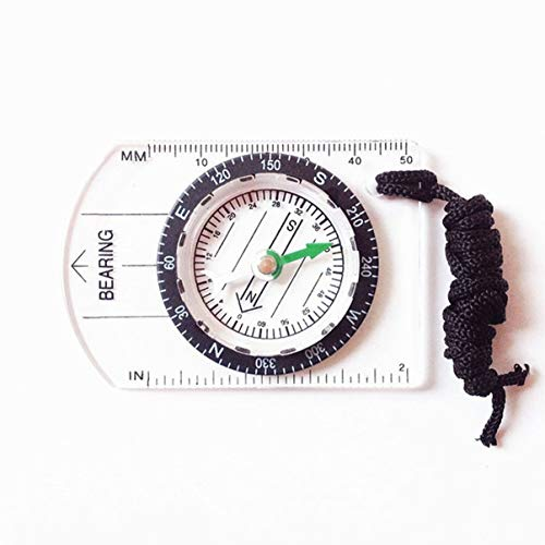 FHJZXDGHNXFGH-DE Professionelle Mini Kompass Kartenmaßstab Lineal Multifunktionale Ausrüstung Outdoor Wandern Camping Überleben Leitfaden Werkzeug