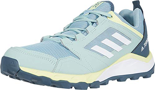 adidas Women's Terrex Agravic Trail Running Shoe, Grey/White/Yellow Tint, 8.5 M US