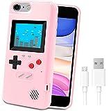 Funda de Teléfono para Juegos para iPhone,LucBuy Cubierta Protectora Estuche con 36 Juegos,Pantalla a Color,Estuche de Videojuegos a Prueba de Golpes para iPhone X/Xs/MAX/XR/6s/7/8P/11/12 Pro/Max/Mini