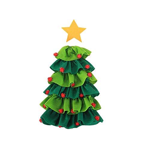 ZQ&QY Estrella Navidad árbol Vino Botella Cubierta Verde Rojo Vestido Blanco Botella Botella Bolsa Champagne Botella Polvo Cubierta Decoraciones De Navidad-A2 1pcs