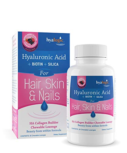 Hyalogic For Hair Skin & Nails - HA + biotin + silica Mixed Berry 30 lzngs