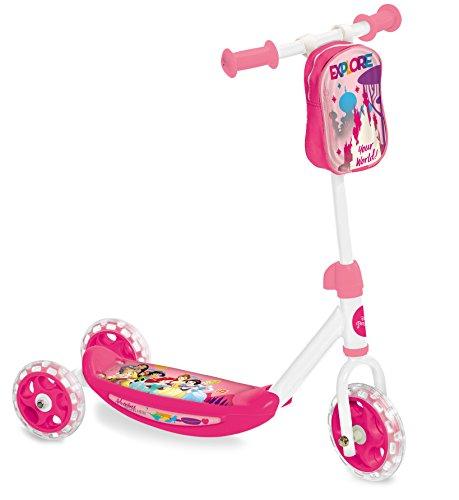 Mondo Toys - My First Scooter PRINCESS - Monopattino Baby bambino/bambina - 3 ruote - borsetta porta oggetti inclusa - 18996