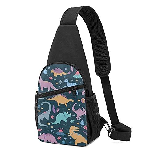 Bolso de pecho de anime de Dinosaur1 (bolsa de hombro de cuerpo cruzado) informal de moda de gran capacidad, bolso de hombro unisex de regalo para la escuela, escalada de montaña, viajes