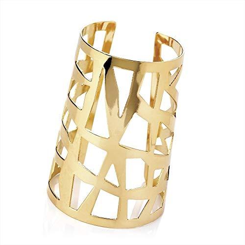 Bling Online Ohrhänger Goldfarben, 9 cm breit Armreif mit Spinnennetz-Design.
