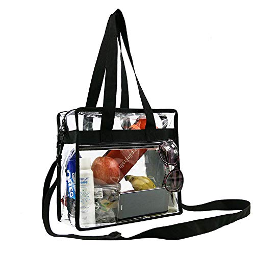 Buy Clear-Bag-For-Women-Stadium-Approved-12 x 12 x 6, NCAA NFL& PGA Security Approved Shoulder Messe...