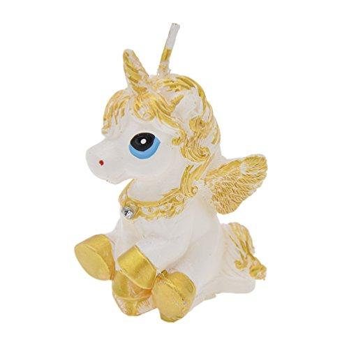 Hongma Geburtstagskerze Einhorn Gold Weiß Party Birthday Geschenk Kinderzimmer Dekor Zubehör