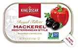 King Oscar Skinless and Boneless Mediterranean Style Mackerel Fillets, 4.05 Ounce, Pack of 12