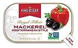 King Oscar Skinless and Boneless Mediterranean Style Mackerel Fillets, 4.05 Ounce, Pack of 12