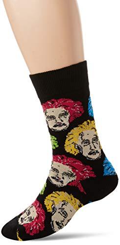 Socksmith Herren Einstein Socken, Schwarz (Black/Multi Black/Multi), Einheitsgröße