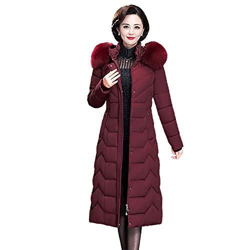 MCSZG Daunenjacke Frauen Winter Pelz Kapuzenmantel Lange Dicke warme übergröße weibliche Plus größe warme daunenmantel Parka dünne Kleidung