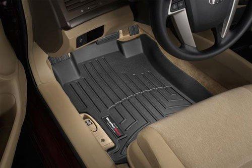 WeatherTech Custom Fit Front FloorLiner for Toyota Venza (Black) :