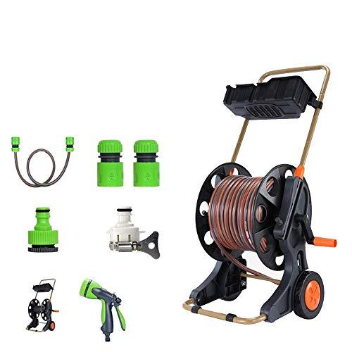 El agua del rociador for la manguera, Mano-push móvil, fácil de almacenar 8 niveles de agua / agua de la manguera de jardín del carrete de la compra de cuatro capas de PVC manguera retráctil agua adec