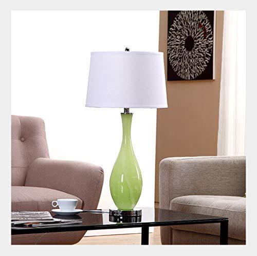 Lampe de table F Lampe de table Simple Art Chambre Creative Décoration Décoration Lampe de chevet en verre vert olive