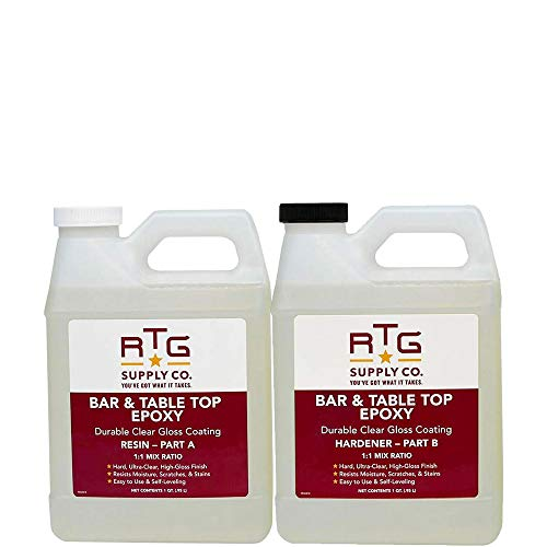 RTG Bar & Table Top Epoxy Resin for Bars Countertops...