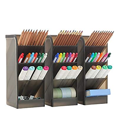 3 Pcs Big Desk Organizer- Pen Organizer Storage...