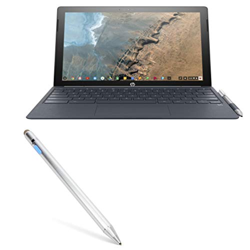Stylus Pen for HP Chromebook x2 (Stylus Pen by BoxWave) - AccuPoint Active Stylus, Electronic Stylus with Ultra Fine Tip for HP Chromebook x2 - Metallic Silver