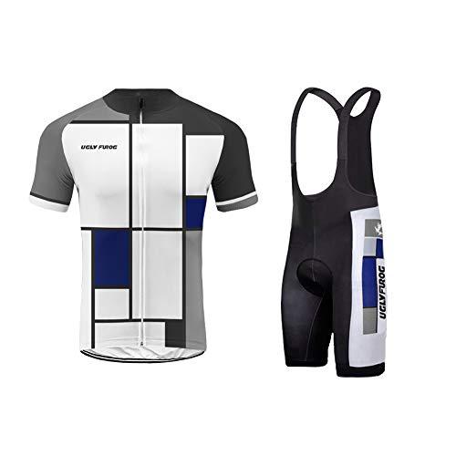 Uglyfrog Ropa Conjunto Traje Equipacion Ciclismo Hombre Verano con 3D Acolchado De Gel, Maillot Ciclismo + Pantalon/Culote Bicicleta para MTB Ciclista Bici