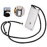 iPhone 6/6s/7/8/SE2(2020)ケース スマホストラップ SHANSHUI,肩掛け 首掛けストラップ TPU全面保護 肩掛け 斜め掛け落下防止 iphone カバー 背面ポケット (4.7インチ)