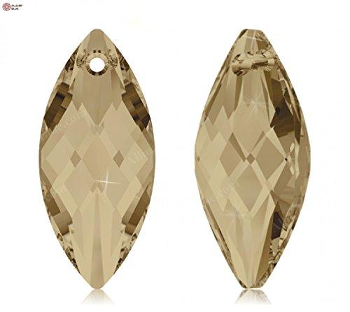 Cristaux de Swarovski 885608 Pendentifs Cristal 6110 MM 30,0X 14,0 Crystal GOL.Shadow, 36 Pièces