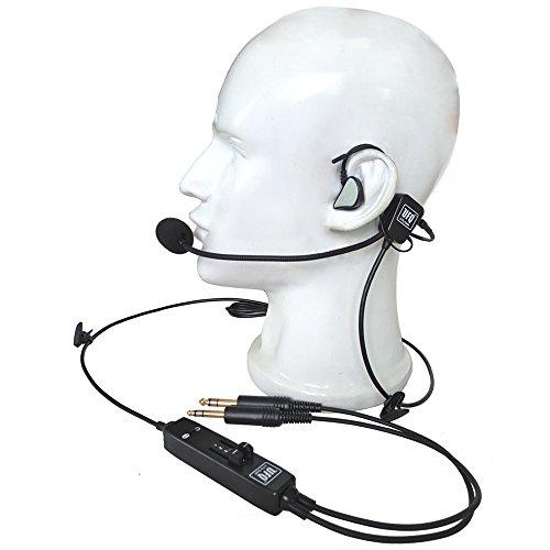 UFQ In-Ear Type Aviation Headset UFQ L-1 Super leicht - leise wie ANR frei mit Tasche - tolle Klangqualität für Musik mit MP3 Eingang