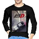 ブルームン Tシャツ 長袖 頭文字d トレーナー シャツ 上着 ファッション カットソー Xxl Black 綿 メンズ レディース