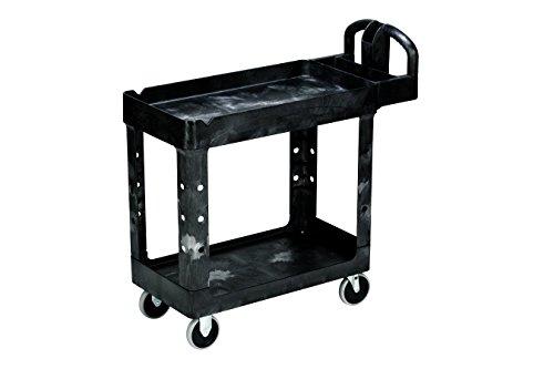 Utility Carts–500Lb Kapazität Zwei Regal Mehrzweckwagen schwarz