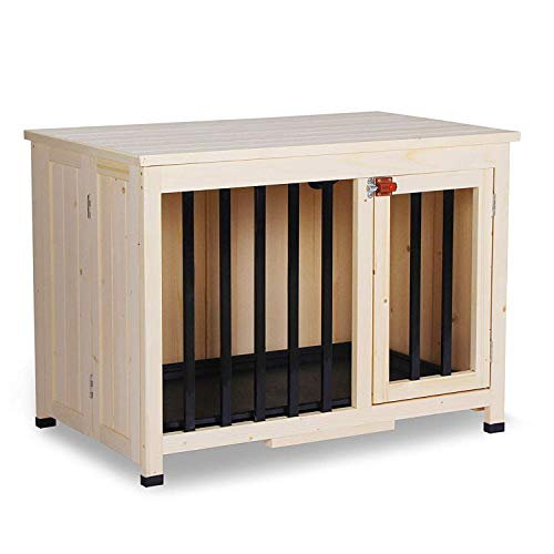 Lovupet No Assembly Wooden Portable Foldable Pet Crate Indoor...