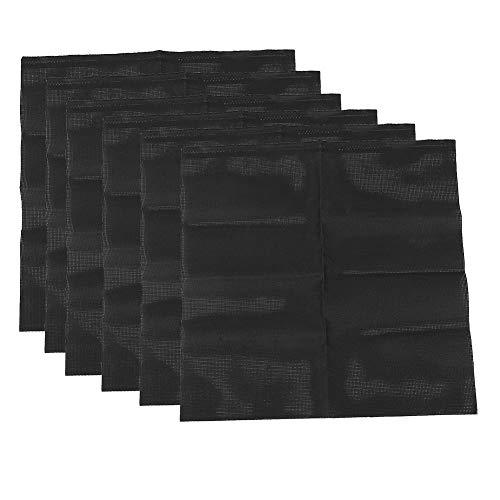 6 piezas de tela de bordado, malla de algodón negra tejida a mano en punto de cruz para hacer alfombras bordadas DIY, 14CT(022)