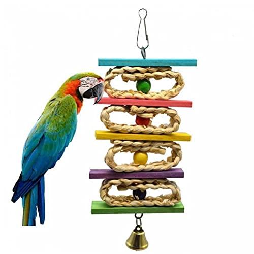 1pc Pájaro Colorido Loro Juguetes Juguetes Oscilación Jaula del Loro del Cockatiel Balón Colgado De Aves Periquito Bites Juguetes Subida Chew