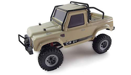 Amewi 22368 AMXRock Crawler AM24 4WD RTR, senffarben 1:24